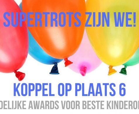 Kinderopvang Koppel uit Epe 6e bij Nationale kinderopvang awards!
